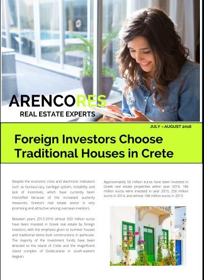 Foreign Investors Choose Traditional Houses in Crete