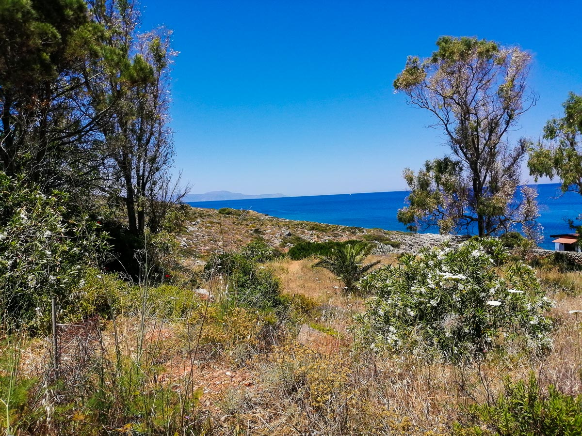 Kalathas waterfront plot for sale, Akrotiri area, Chania by ARENCORES